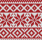 Knitted seamless winter pattern Royalty Free Stock Photo