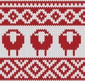 Knitted seamless winter pattern Royalty Free Stock Image