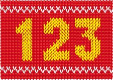 Knitted set of numbers Stock Photo