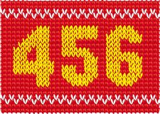 Knitted set of numbers Royalty Free Stock Photos
