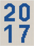 Knitted 2017 sign Royalty Free Stock Images