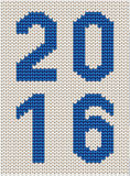 Knitted 2016 sign Stock Image