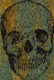 Knitted skull Royalty Free Stock Images
