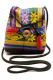 Knitted small bag honduras Royalty Free Stock Images