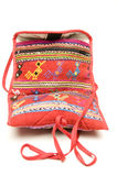 Knitted small carry bag made in honduras stock images