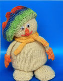 Knitted snowman Royalty Free Stock Photography