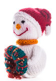 Knitted snowman Stock Photography