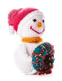 Knitted snowman Stock Images