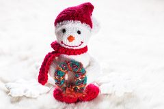 Knitted snowman Royalty Free Stock Photo