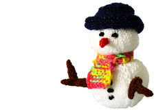 Knitted snowman toy A Stock Images