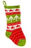 Knitted sock for gifts. Christmas stocking Royalty Free Stock Photo