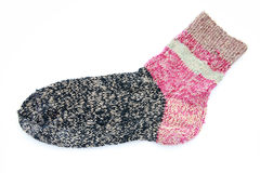 Knitted Sock Stock Photo