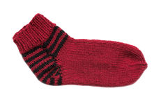 Knitted sock Stock Photography