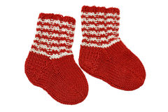 Knitted socks Stock Photo