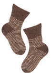 Knitted socks brown Stock Images
