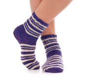 Knitted socks Stock Image