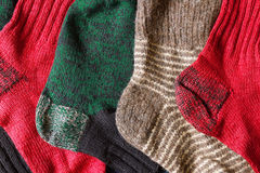 Knitted socks Stock Images