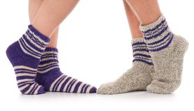 Knitted socks Royalty Free Stock Photos