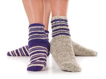 Knitted socks Royalty Free Stock Photography