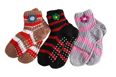 Knitted Socks Stock Images
