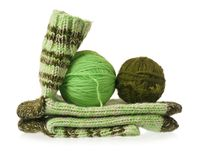 Knitted socks Stock Photography
