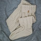 Knitted socks - winter present Stock Image