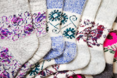 Knitted socks Stock Photos