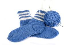 Knitted socks Stock Image