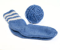 Knitted socks Royalty Free Stock Image