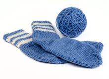 Knitted socks Stock Photos