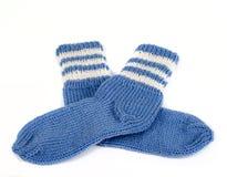 Knitted socks Stock Photo