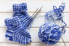 Knitted socks Royalty Free Stock Photo