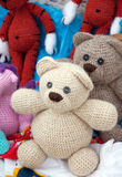 Knitted soft toys, handmade Royalty Free Stock Photo