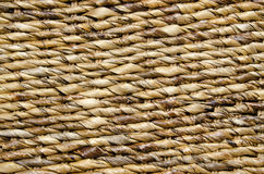 Knitted Straw Textured Background Stock Image