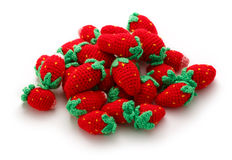 Knitted strawberry Stock Image
