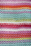 KNITTED STRIPED BACKGROUND, close up Stock Images