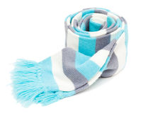 Knitted striped scarf Royalty Free Stock Images