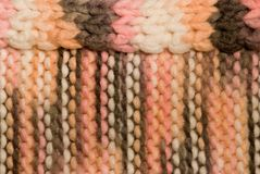 Knitted stripped background Stock Photo