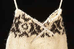 Knitted sweater. On black background Stock Photography