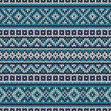 Knitted Sweater Design. Fair Isle Seamless Pattern Royalty Free Stock Photos