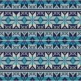 Knitted Sweater Design. Fair Isle Seamless Pattern Royalty Free Stock Photography