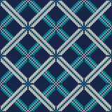 Knitted Sweater Design. Seamless Knitting Pattern Stock Photos