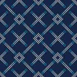 Knitted Sweater Design. Seamless Knitting Pattern Stock Photography