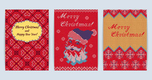 Knitted Sweater Greeting card Royalty Free Stock Photos