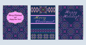 Knitted Sweater Greeting card. Vector Illustration of Knitted Sweater Greeting card for Design, Website, Background, Banner.rChristmas Flyer Template. Holiday Royalty Free Stock Image