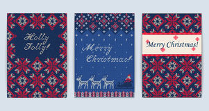 Knitted Sweater Greeting card Royalty Free Stock Photography