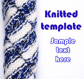 Knitted template Stock Photography