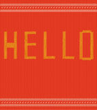 Knitted text Stock Images