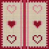 Knitted textile decorative valentine hearts, seamless pattern Royalty Free Stock Photo