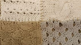 Knitted texture background. In soft pastel colours Royalty Free Stock Photo